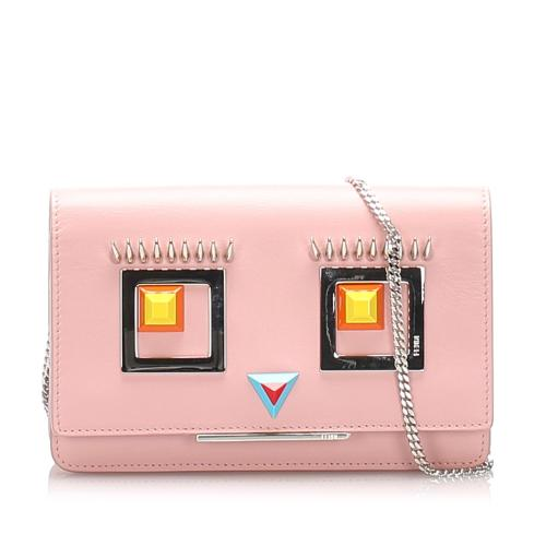 Fendi Leather Hypnoteyes Wallet on Chain