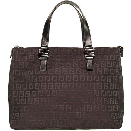 Fendi Jacquard Logo Tote Handbag