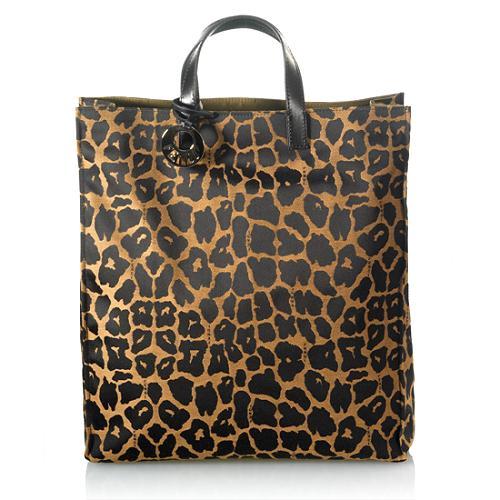 Fendi Jaguar-print Canvas Tote