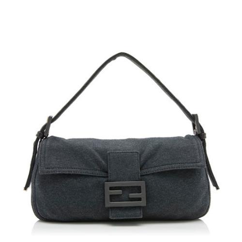 Fendi Jersey Baguette Shoulder Bag
