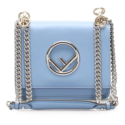 Fendi Kan I Leather Crossbody Bag
