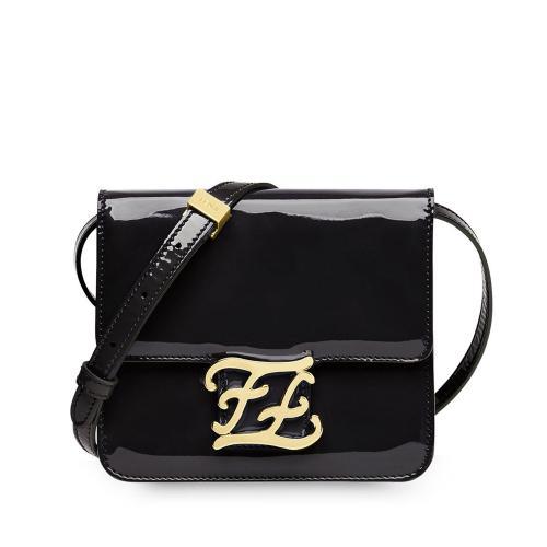 Fendi Patent Leather Karligraphy Crossbody Bag