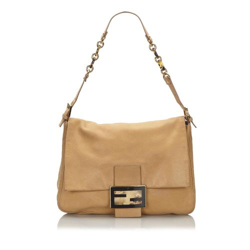 Fendi Leather Chain Mamma Forever Shoulder Bag