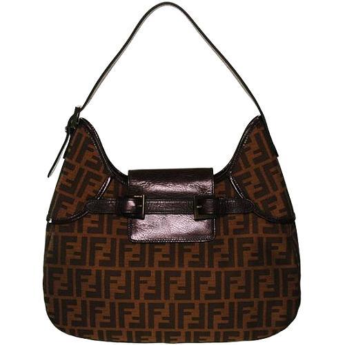 Fendi Large Zucca Hobo Handbag