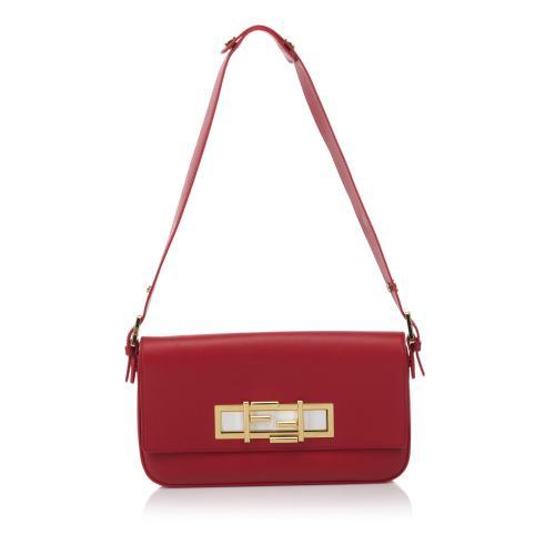 Fendi Leather 3 Baguette Shoulder Bag