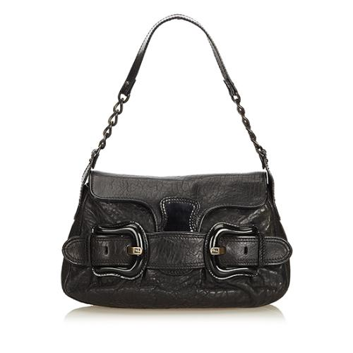 Fendi Leather B Bis Shoulder Bag