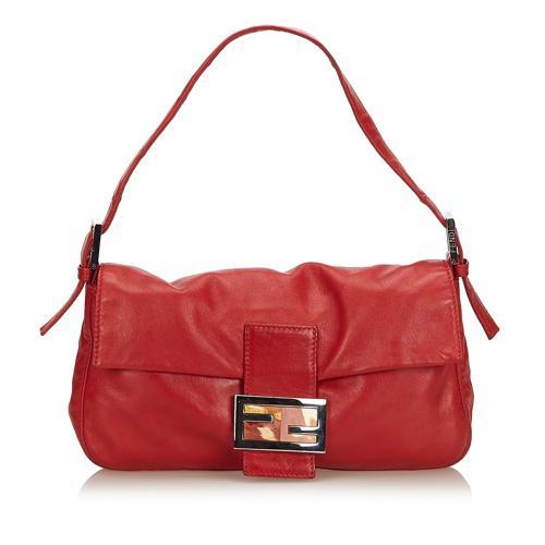 Fendi Leather Baguette Shoulder Bag
