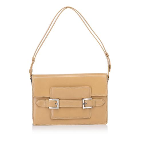 Fendi Leather Baguette Shoulder Bag
