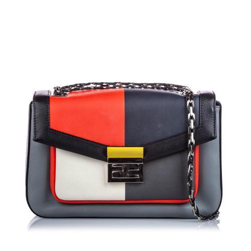 Fendi Leather Be Baguette Crossbody Bag