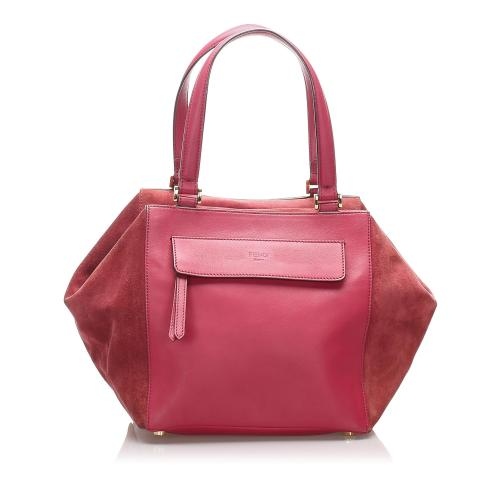 Fendi Leather Boxy Shoulder Bag