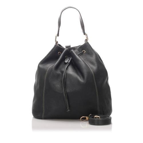 Fendi Leather Bucket Bag