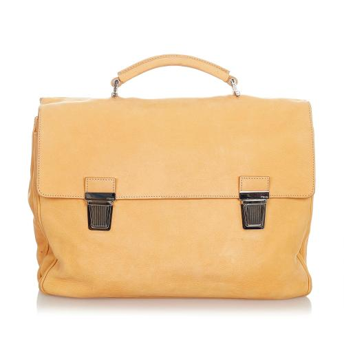 Fendi Leather Business Bag