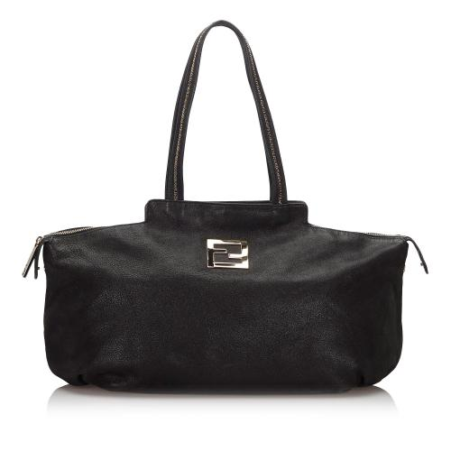 Fendi Leather Chains Tote Bag