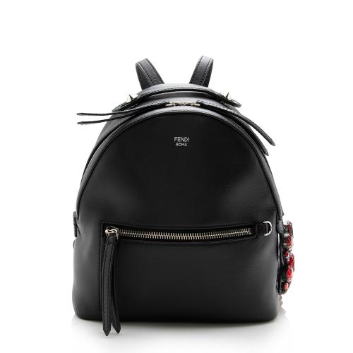 Fendi Leather Crystal By The Way Mini Backpack