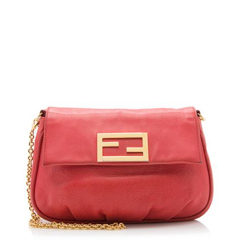 Fendi Leather Fendista Crossbody Bag
