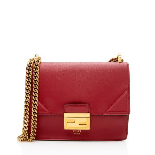Fendi Leather Kan U Grace Small Crossbody Bag