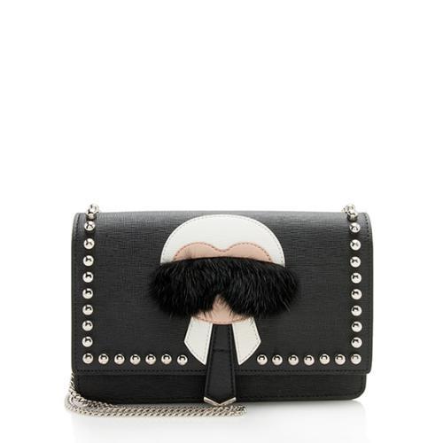 Fendi Leather Karlito Wallet On Chain
