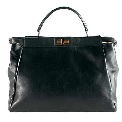 94a179a2de89 Fendi-Leather-Leopard-Print-Calf-Hair-Peek-A-Boo-Satchel -Handbag 52796 front large 1.jpg