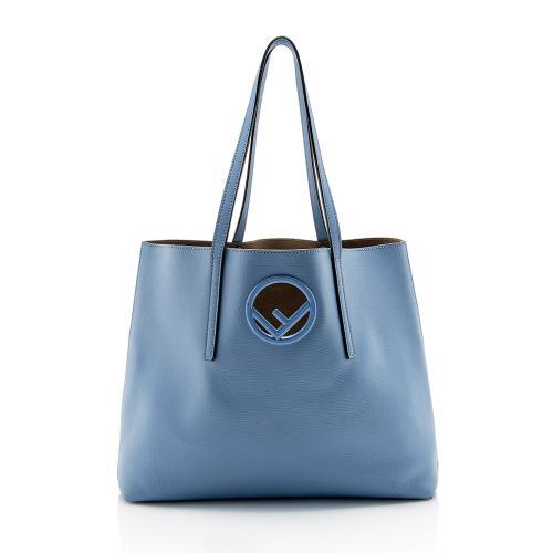 Fendi Leather Logo Shopper Tote