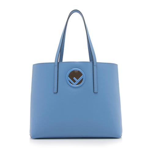 Fendi Leather Logo Shopper Tote