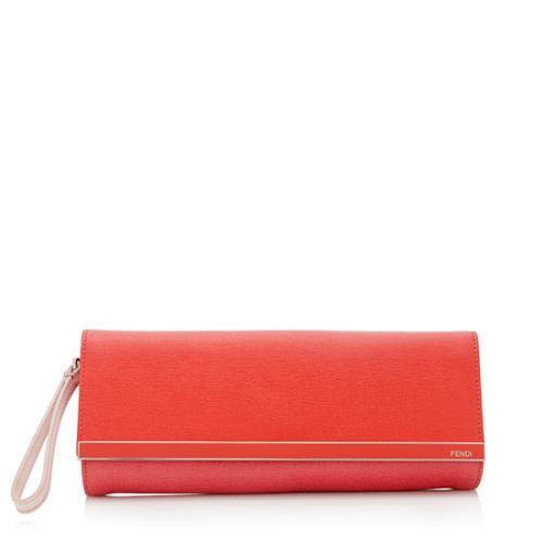Fendi Leather Logo Wristlet - FINAL SALE