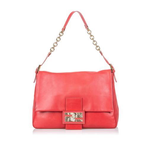Fendi Leather Mamma Forever Shoulder Bag