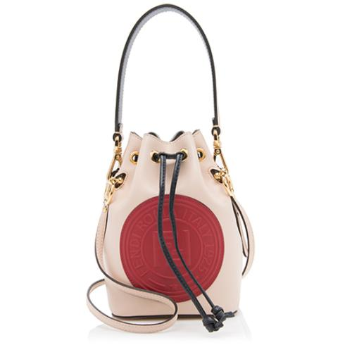 Fendi Leather Mon Tresor Mini Bucket Bag