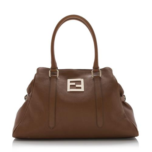 Fendi Leather New Bag de Jour Tote