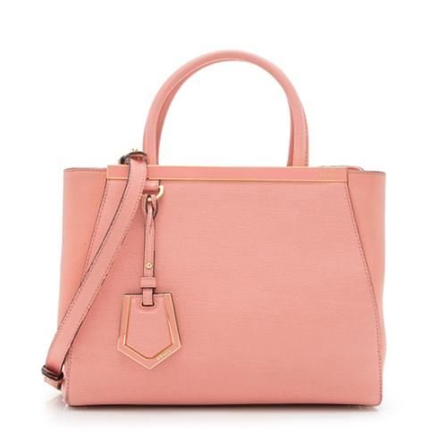 Fendi Leather Pee 2jours Tote