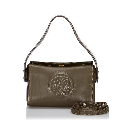 Fendi Leather Logo Satchel