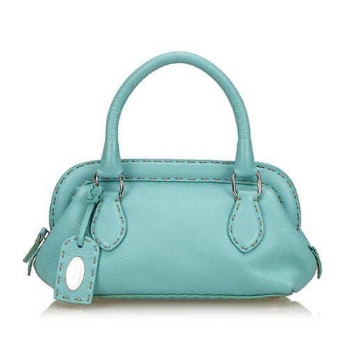 Fendi Selleria Leather Small Doctor Bag