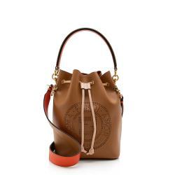 Fendi Perforated Leather Small Mon Tresor Bucket Bag