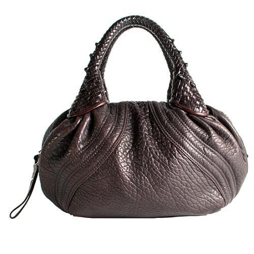 Fendi Leather Small Spy Satchel Handbag