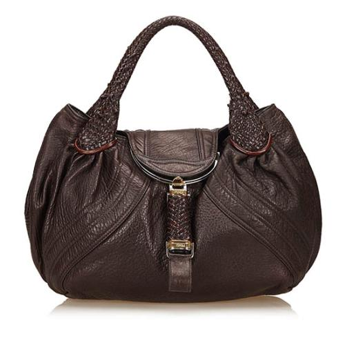 Fendi Leather Spy Satchel