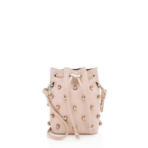 Fendi Leather Studded Mon Tresor Mini Bucket Bag