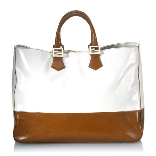 Fendi Leather Twins Tote