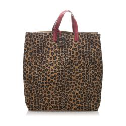 Fendi Nylon Leopard Print Tote