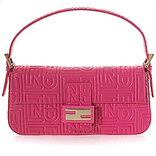 Fendi Leather Medium Baguette Handbag