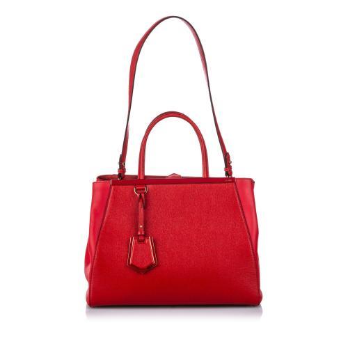 Fendi Leather 2Jours Medium Satchel