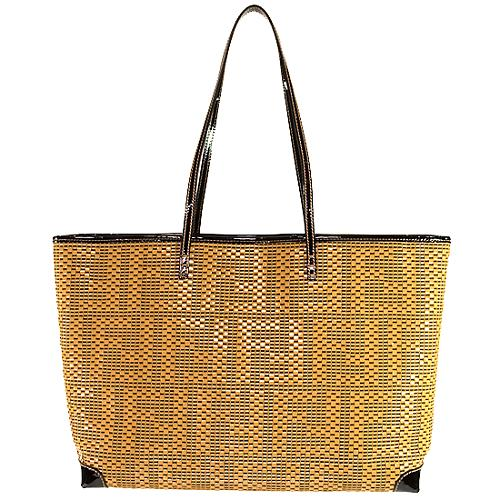 Fendi Medium Woven Shopping Tote