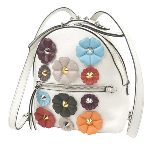 Fendi Mini By The Way Flowerland Backpack