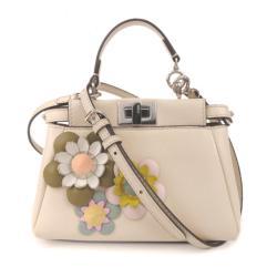 Fendi Leather Mini Flowerland Peekaboo Satchel