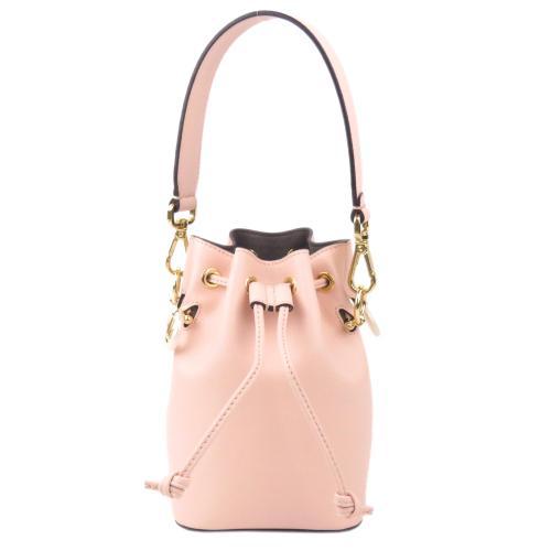 Fendi Leather Mini Mon Tresor Bucket Bag