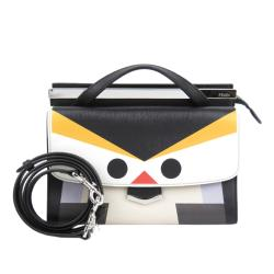 Fendi Leather Monster Demi Jours Satchel