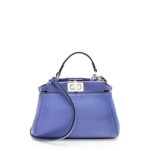 Fendi Nappa Leather Peekaboo Micro Shoulder Bag