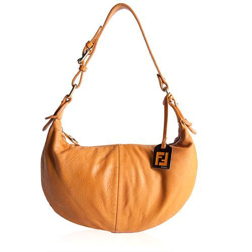 Fendi Nappa Leather Small Hobo Handbag