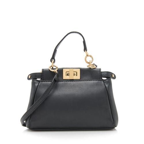 Fendi Nappa Micro Peekaboo Shoulder Bag