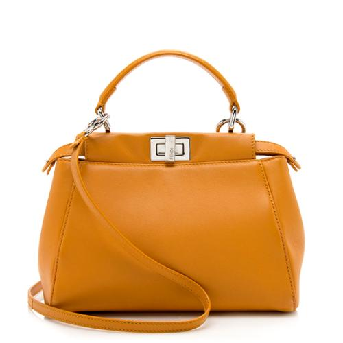 Fendi Nappa Mini Peekaboo Shoulder Bag - FINAL SALE