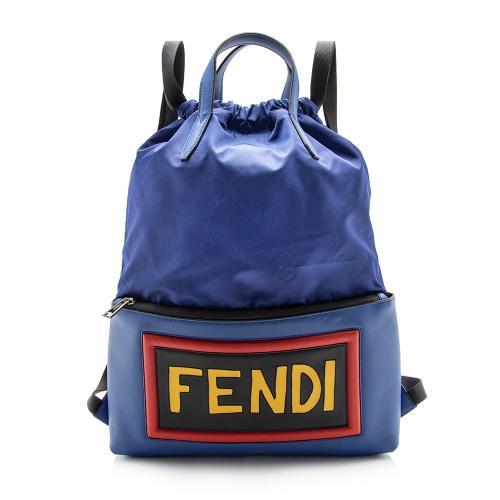Fendi Nylon Logo Backpack