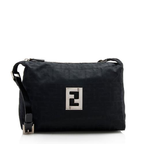 Fendi Nylon Zucca Logo Shoulder Bag